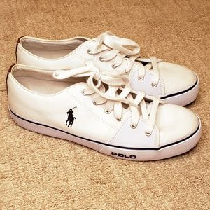 Ralph Lauren Polo Cantor Low White Canvas Sneaker